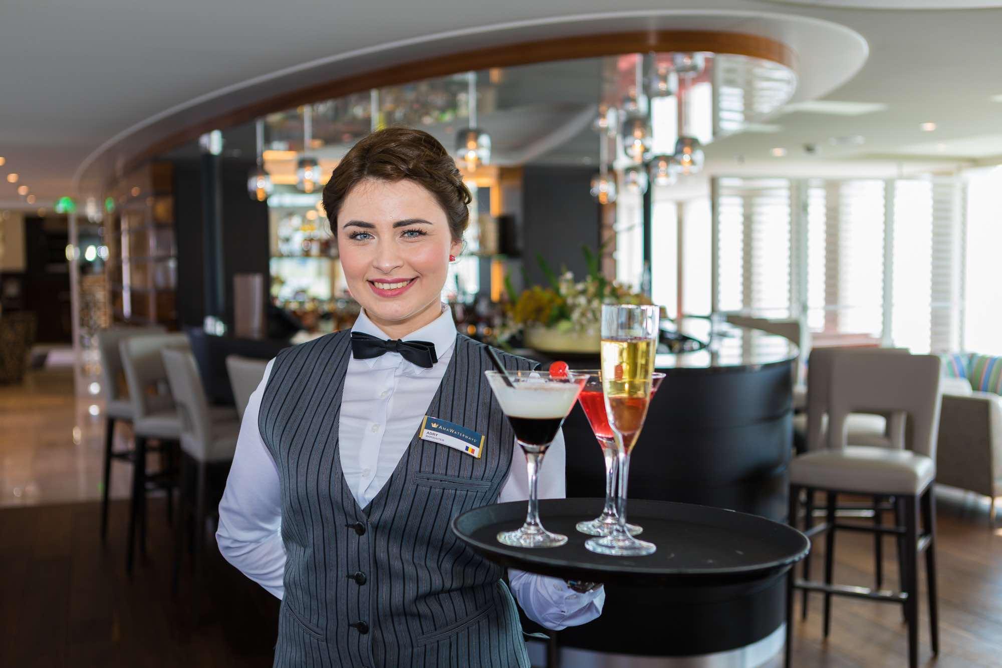 På AmaDara skibet er der inkluderet cocktail hour