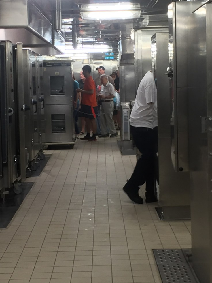 View of the ovens in the galley