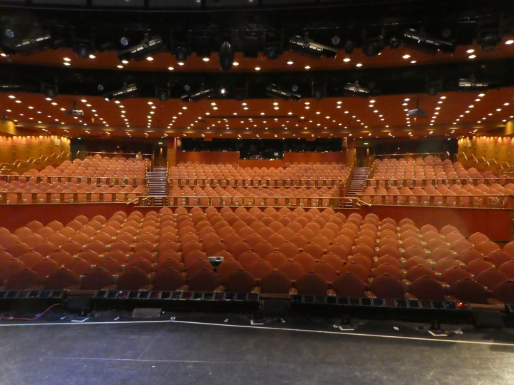 The view from the stage of the Princess Theatre