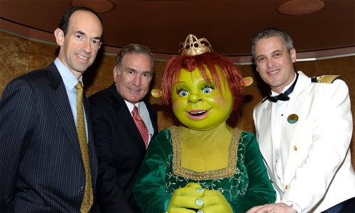 Princess Fiona christening the Allure of the Seas