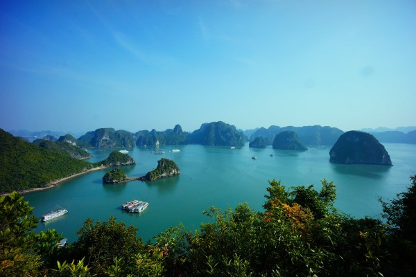 The beautiful Halong Bay, Vietnam can be visited during a river cruise