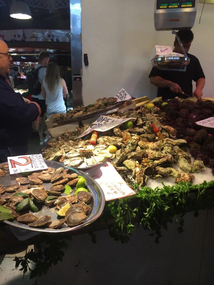 oysters La Boqueria Las Ramblas