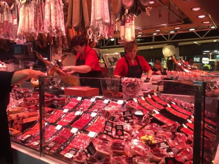 La Boqueria stall Las Ramblas