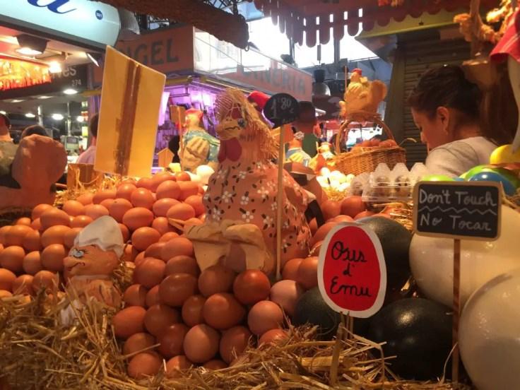 eggs Las Ramblas