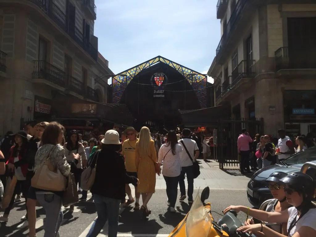 La Boqueria in Barcelona Las Ramblas