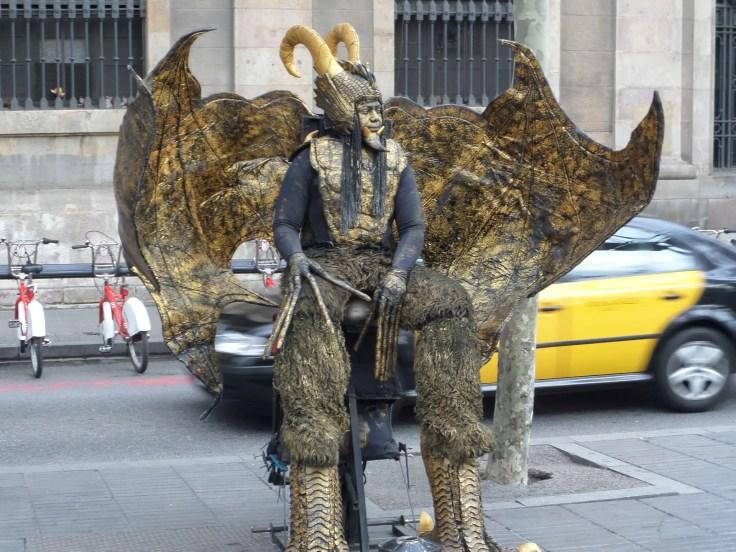 human statue Las Ramblas