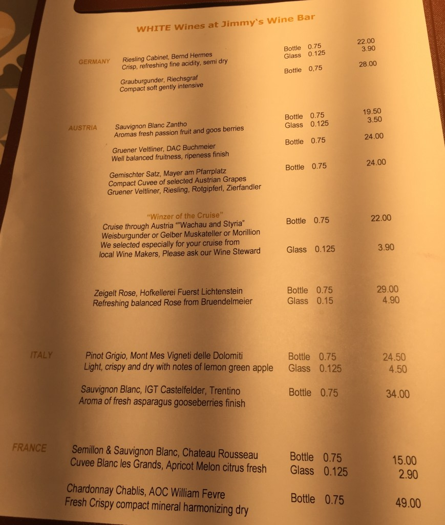 AmaMagna white wine list drinks