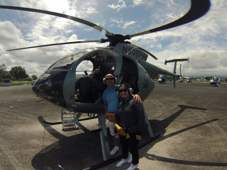 Hawaii helicopter tour with the doors off