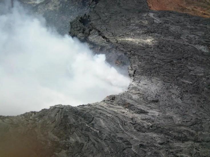smoke volcano helicopter Hawaii