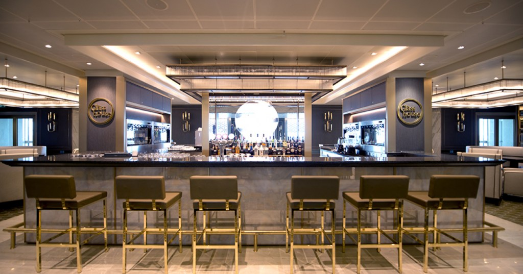 The Glass House bar on P&O