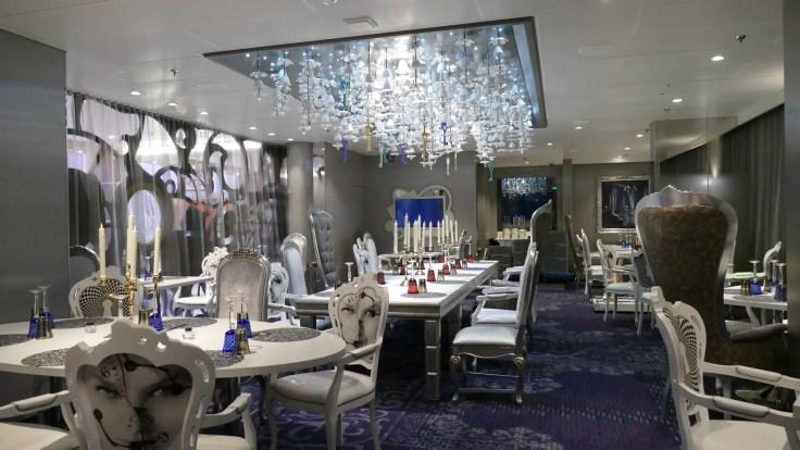 Wonderland specialty restaurant on Royal Caribbean cruise ship