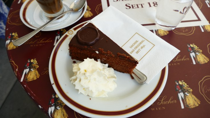 Original Sacher Torte from Cafe Sacher, Vienna