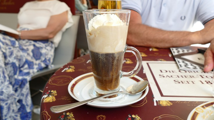 liquer coffee from Cafe Sacher Vienna