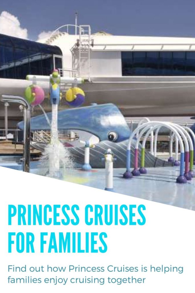 Princess Cruises offers a range of facilities as activities for families.