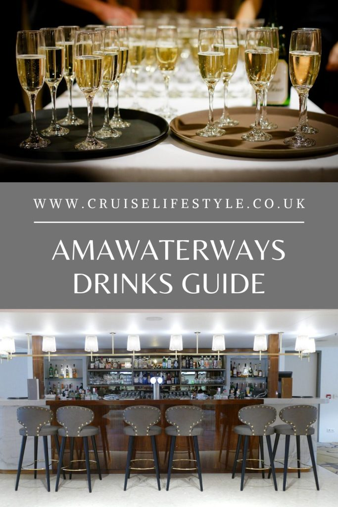 A comprehensive AmaWaterways Drinks Guide to explain the complimentary drinks available onboard, corkage fees and special interest tours.