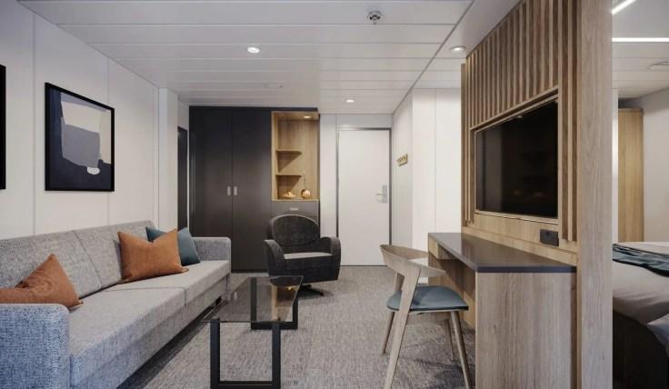 Junior Balcony Suite Havila Voyages