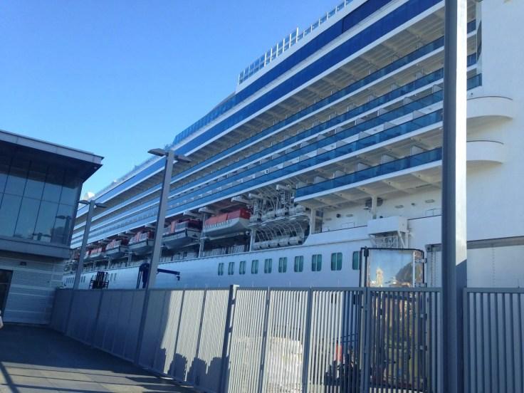 cruise ship at Pier 27 San Francisco