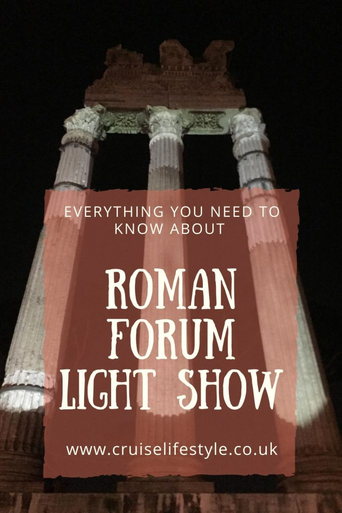 The Roman Forum Light Show is one thing you should not miss on your visit to Rome. It's a hidden gem that brings the Roman Forum to life.