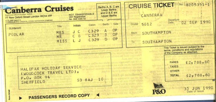 canberra cruise ticket