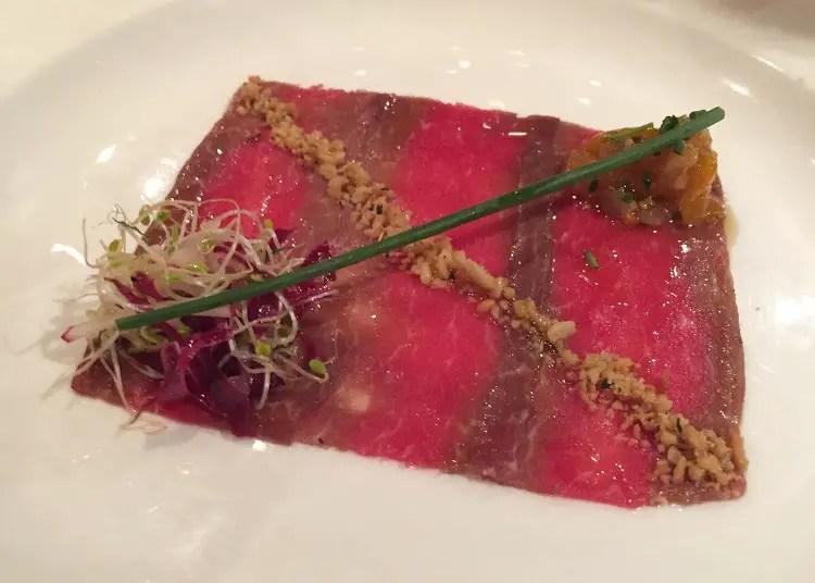 Beef tartare appetizer