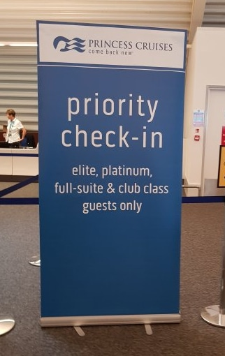 Princess Cruises priority check in