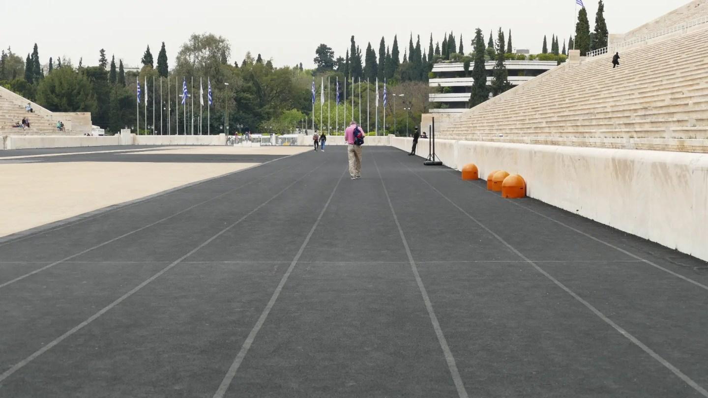 running track at the Panathenaic Stadium