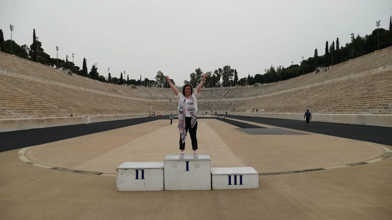 Panathenaic stadium podium