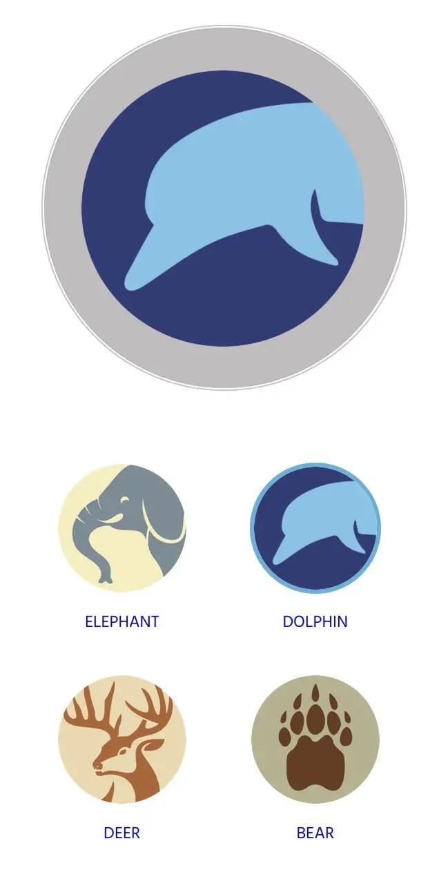 Animal designs Oceanmedallion