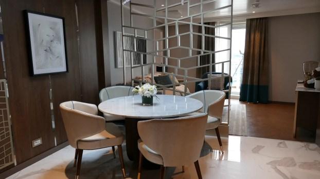 Princess Cruises Sky Suite dining area