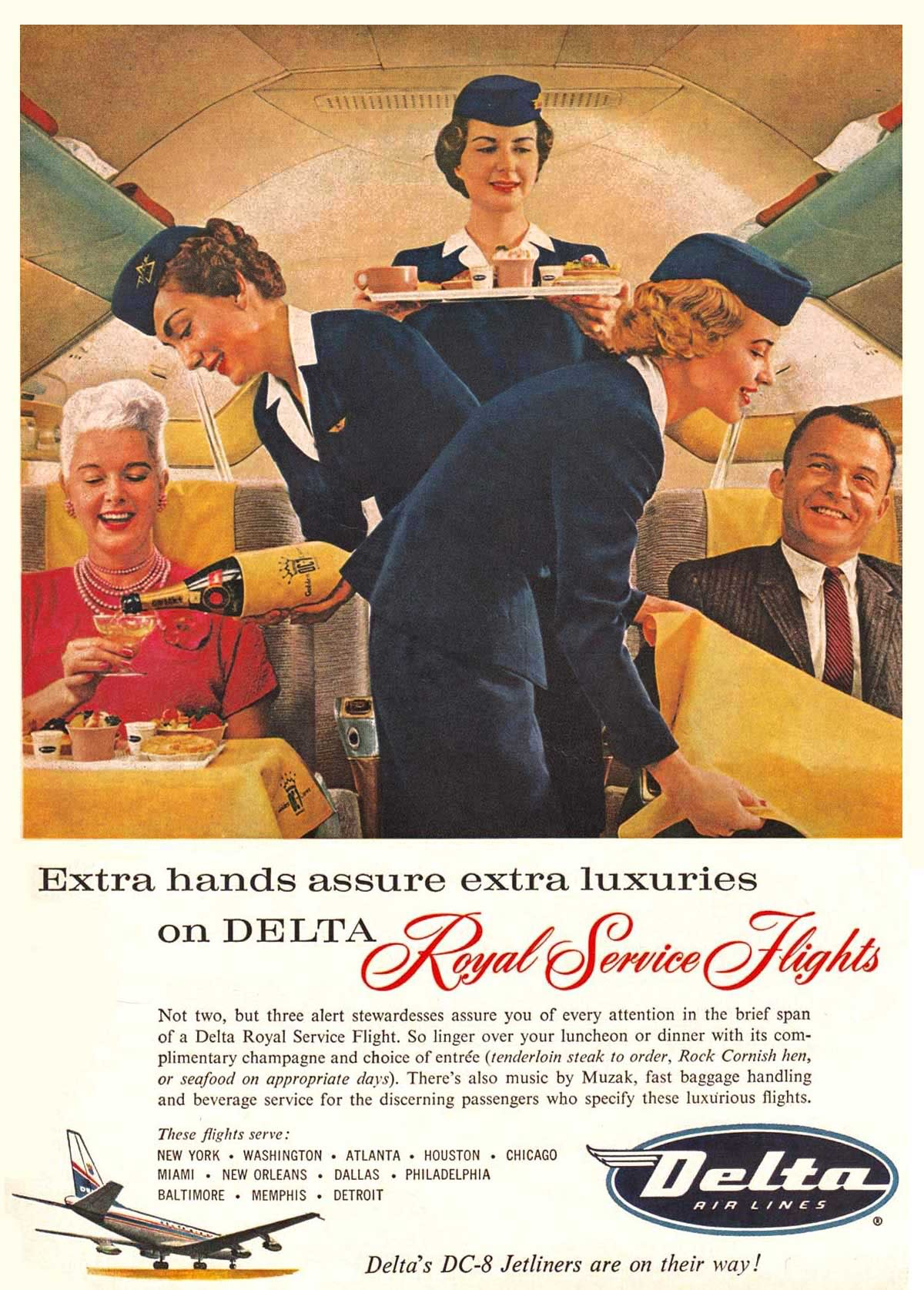Airlines History  The Stewardess  During the 1960s  The period of the AMC award winning MAD