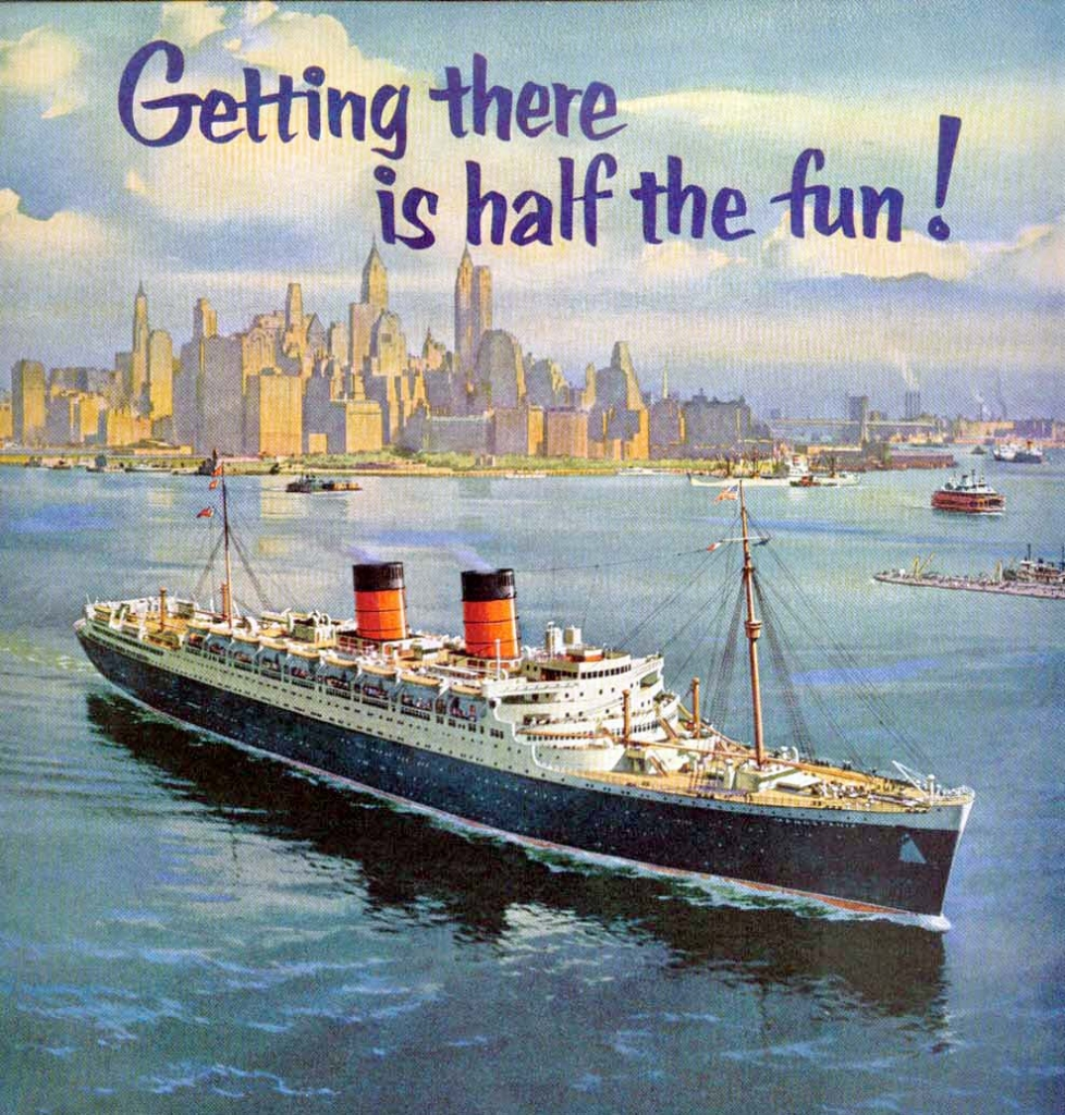The Great Cunard Liner Rms Mauretania Of 1939 Cruising