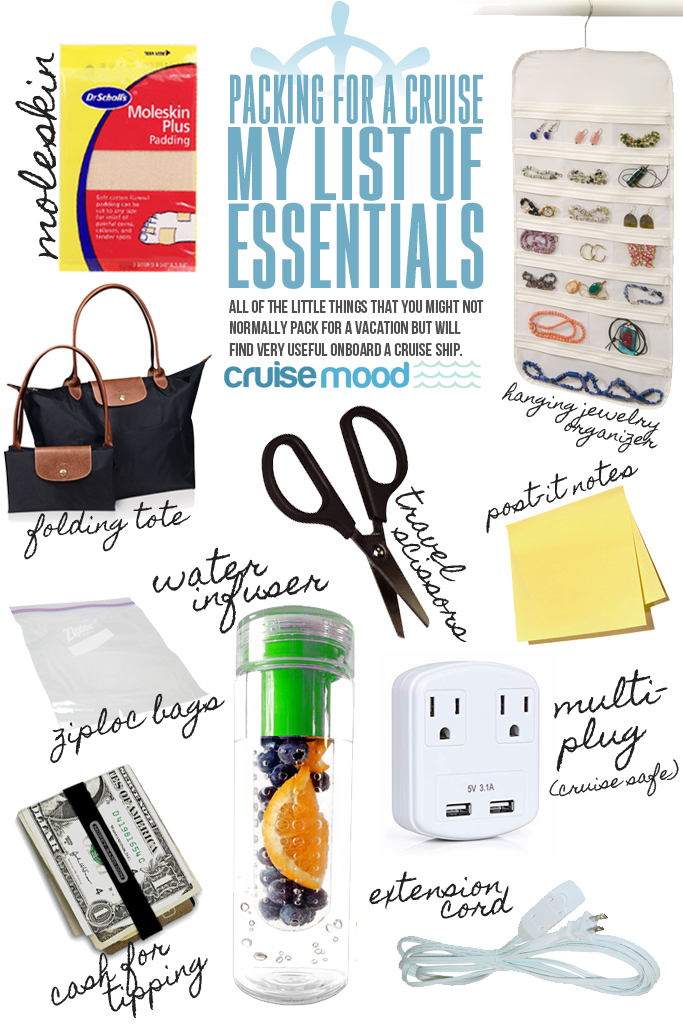 Packing for a Cruise - My List of Essentials