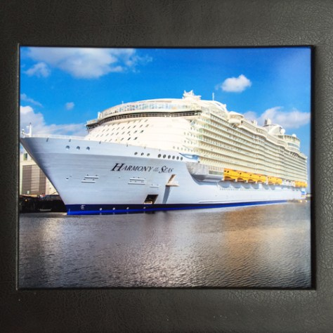Harmony of the Seas maiden voyage photo