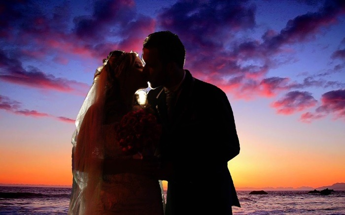 Sunset Wedding | Norwegian Cruise Lines Wedding At Sea