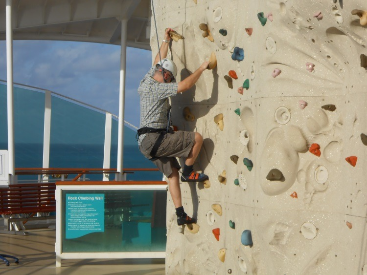 Rock Climbing on Royal Caribbean Explorer of the Seas