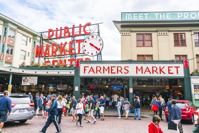 Pike Place Market entrance in Seattle