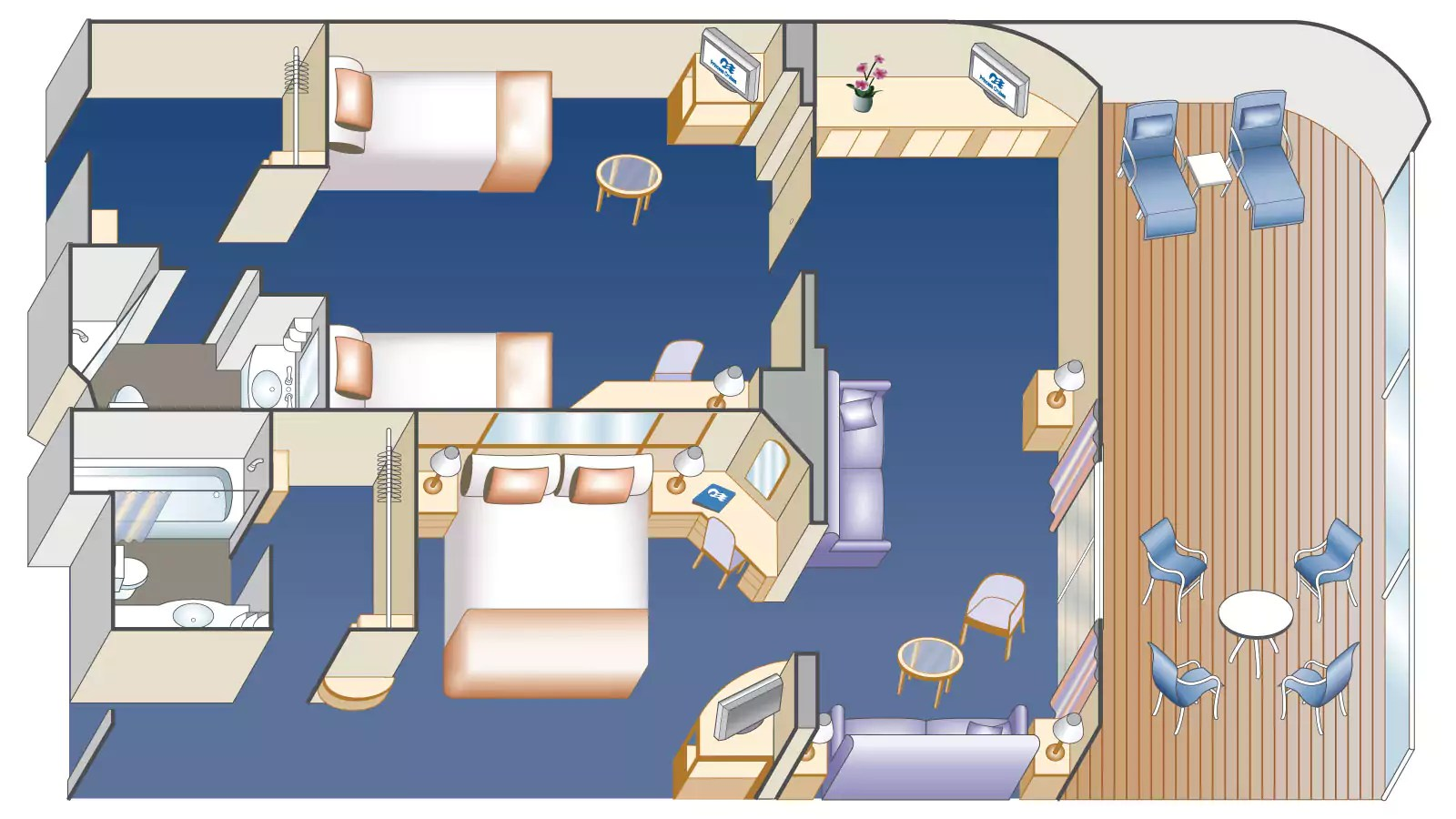 Princess Cruises Family Suite Diagram