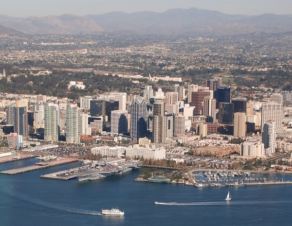 downtown san diego from the sky