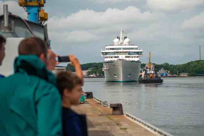 New Expedition Cruise Ship Departs Shipyard, Heads For Iceland