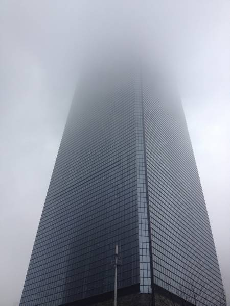 Jinmao Tower on a Cloudy Day
