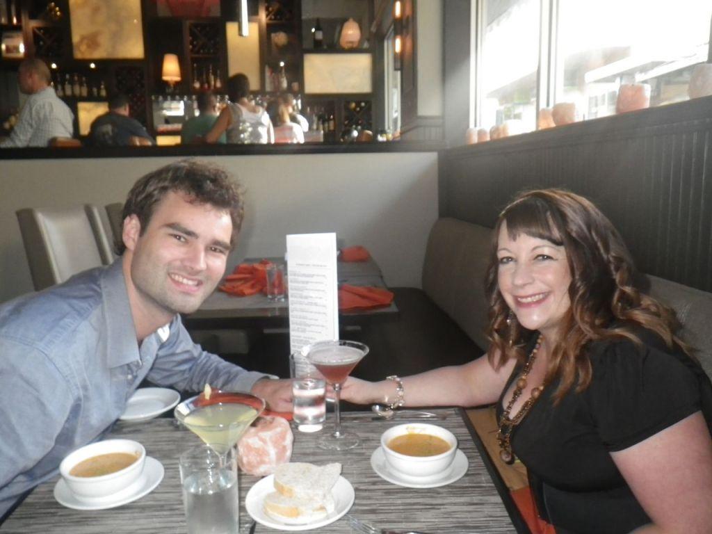 Our first official date in restaurant Salt in Juneau, Alaska