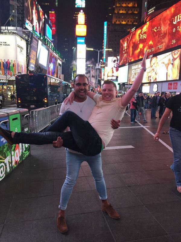 Paul & Victor in Times Square, NY