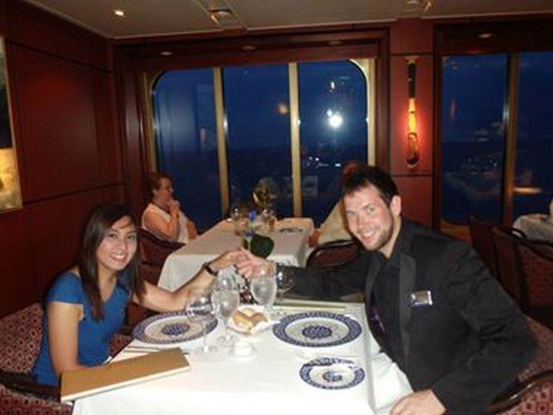 Kristel & James at dinner