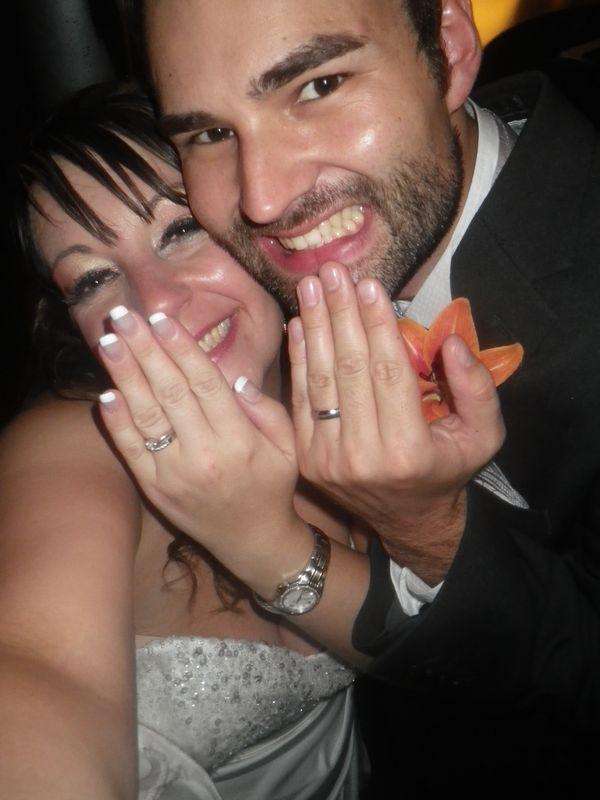 Nick & Karen on their wedding day in Quebec