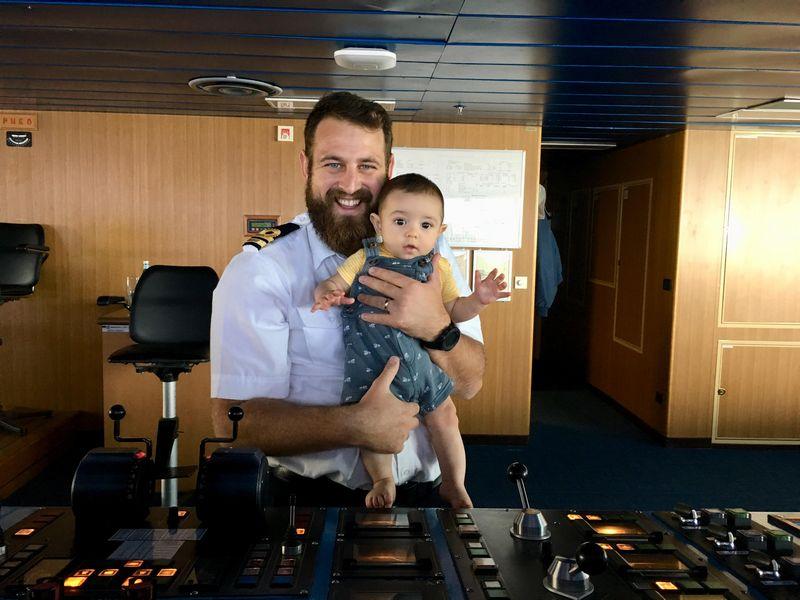 Simon & baby Ezra on bridge