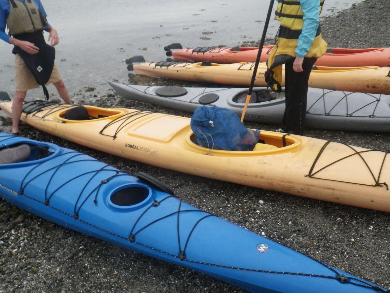 Kayaks for the tour