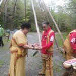 Mi'k Maw smudge ceremony