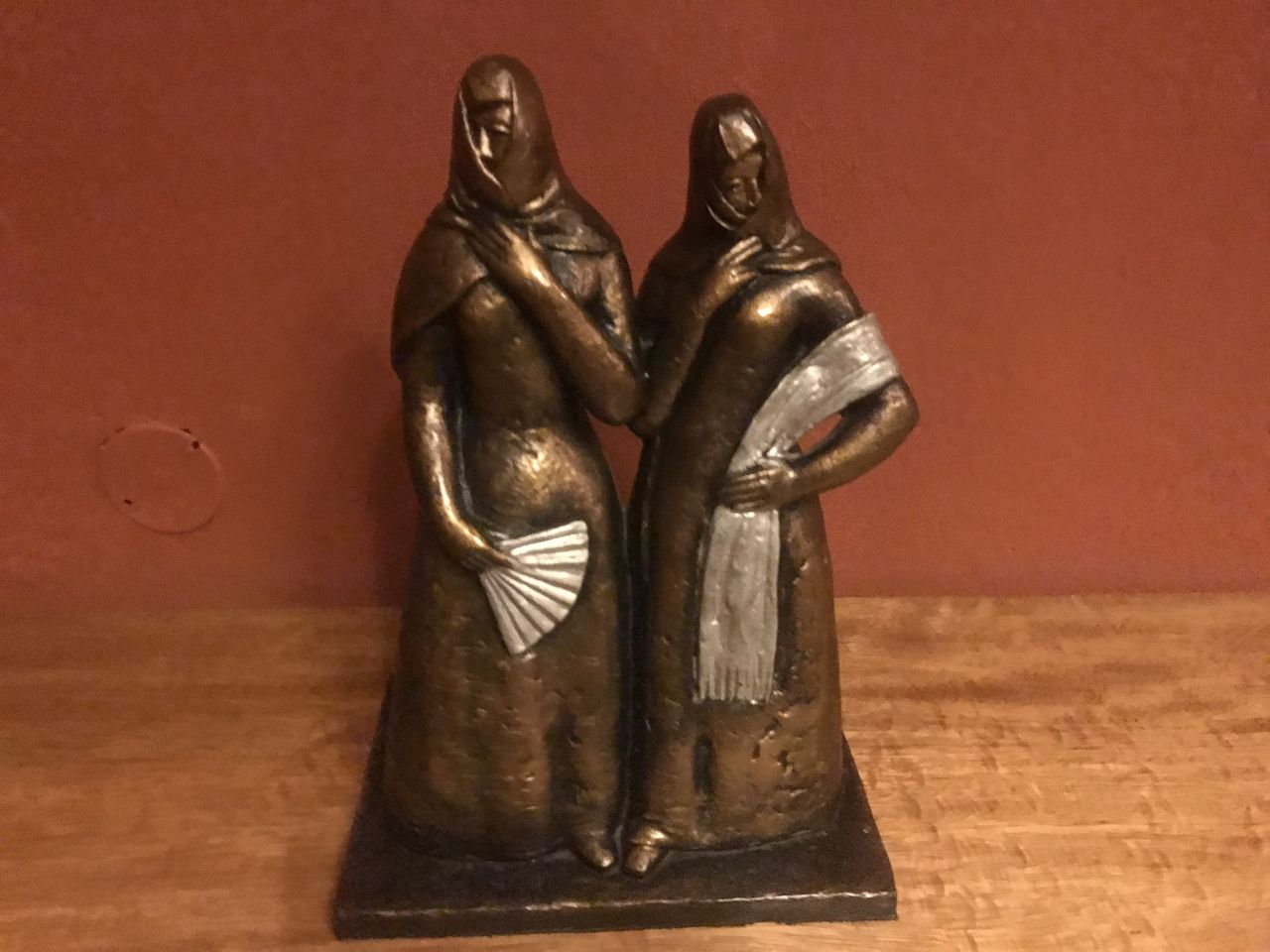 Spanish religious statues in hotel