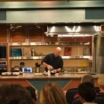 Robert's Oliver doing a demo of Polyniesian food on the ship