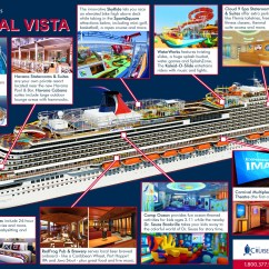 Carnival Cruise Ship Diagram Kitchen Wiring Infographic Tour The New Vista